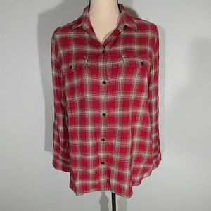 Madewell Plaid blouse